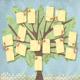 Printable Scrapbook Family Trees Four-Generations with Name Tag Design